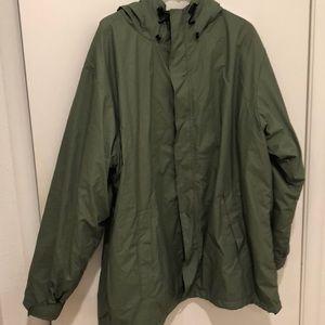 Men's poncho/rain coat.